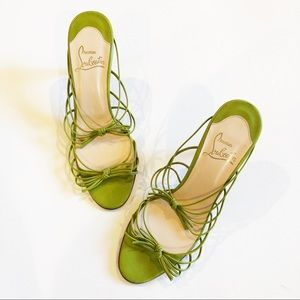 Authentic Christian Louboutin Green heel Sandals